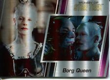 Star Trek Women Of 50th Metal Parallel Base Card #41 Borg Queen and Jean-Luc