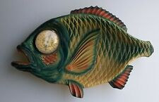 vintage Dish Fish Shape Plate Decor Thermometer Precision - Made in France