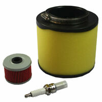 Air Oil Filter & Spark Plug For Honda TRX450 Foreman 1998-2004 Tune Up Kit New