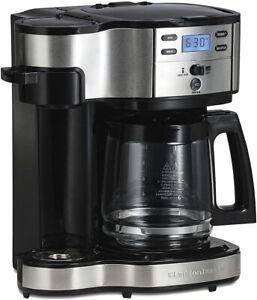 Hamilton Beach 2-Way Brewer Coffee Maker, Single-Serve and 12-Cup Pot (49980A)