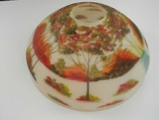 ANTIQUE REVERSE PAINTED LAMPSHADE / LAMP SHADE Signed B.KINCAID