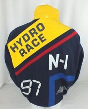 MENS NAUTICA LARGE VTG REVERSABLE SAILING JACKET HYDRO-RACE BIG LOGO HIP HOP