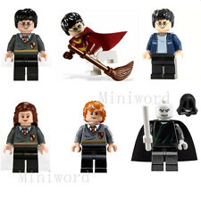 6pcs Minifigures Harry Potter Hermione Ron Lord Voldemort Character Blocks Toy