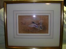 GILT FRAMED & GLAZED WATERCOLOUR BY JAMES STINTON ROYAL WORCESTER ARTIST