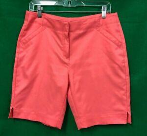 PGA Tour Woman's Size 8 POLY Pink Shorts / jd0047