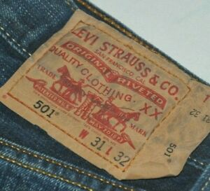 Levis Jeans 501 Mom Vintage Straight High Waist Dark Wash Fadded Blue 29 30 31