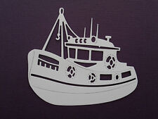 Fishing Boat Trawler Paper Die Cuts x 8 Scrapbooking Embellishment