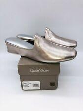 Daniel Green Women's Glamour Traditional Slip-On Wedge Slippers- Pewter