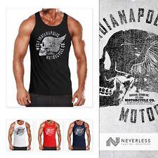 Caballero Tank Top moto motorista calavera Skull Wings vintage neverless ®