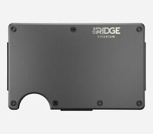 NEW Ridge Titanium Wallet W/ Cash Strap Black