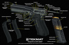 GLOCK 9MM PISTOL CUT-AWAY GUN GUNSMITH BENCH LAP TOP MAT SOFT AIR POLICE TEKMAT