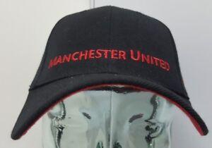 Manchester United Black Curved Brim Adjustable Strap Hat/Cap