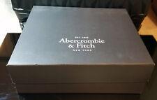 Abercrombie & Fitch Caja de almacenamiento de zapatos de diseñador Negro Vacío