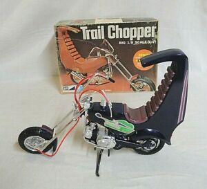 "LOOK! PRO-BUILT 1972 MPC 1/8 ""TRAIL CHOPPER"" MOTORCYCLE ORIGINAL MODEL KIT!"