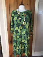 Seasalt Size 10 Lime Stamp Night Chapel Cliff Dress Brand New Sample