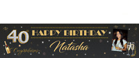 Large Personalised Birthday Banner - 18th 21st 30th 40th 50th - D014