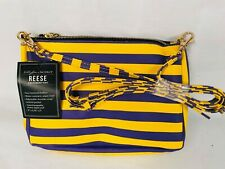 """LSU Lily Bee Purple and Gold Purse   9"""" x 6.5"""""""