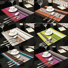 1PC PVC Rectangle Placemats Insulation Kitchen Tableware Pad Mat Dining Room