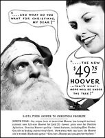 1935 Santa Claus Christmas gift Hoover vacuum vintage photo Print Ad  (ADL16)