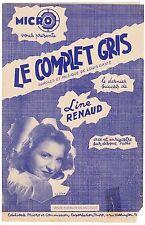 PARTITION ANCIENNE LE COMPLET GRIS  LINE RENAUD