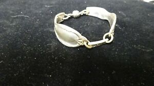 Vintage Rogers Silver Plated Silverware/Flatware Spoon Bracelet Heavy Magnet