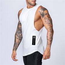 Gym Men Tank Top Vest Muscle Sleeveless Sportswear Shirt Bodybuilding Cotton