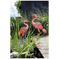 Luxform Lighting Solar Metal Garden Light Flamingo Dimensions 875x130x245mm
