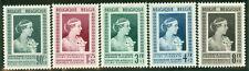 Belgium #B498-502 Complete set, og, Lh, Vf Scott $92.40