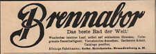 BRANDENBURG, Werbung / Anzeige um 1900, Gebr. Reichstein Brennabor-Räder