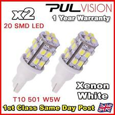 2 x T10 W5W 501 194 168 Car White 20 SMD LED Side Light Wedge Bulb Lamp DC 12V
