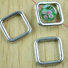 16pcs Tibetan silver square charm findings h1505
