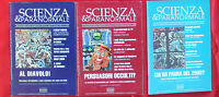 3 Fascicoli SCIENZE E PARANORMALE  RIVISTE anno 1996 CICAP  N. 9  N. 10  N. 11