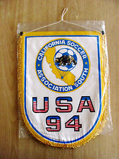 Genuine USA 1994 California Soccer South Association Official Pennant Banner