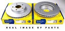 2 X FRONT AXLE BRAKE DISCS FOR TOYOTA RAV 4 Mk II 2.4 1.8 2.0 COMLINE ADC01100V