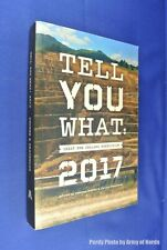 TELL YOU WHAT 2017 Susanna Andrew GREAT NEW ZEALAND NON FICTION Book