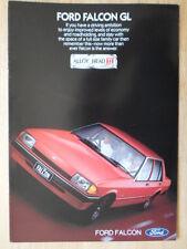 FORD FALCON GL Sedan orig 1982 glossy sales brochure - Australia