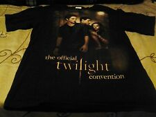 THE OFFICIAL TWILIGHT CONVENTION TEE SHIRT-2009/2010-BELLA, EDWARD, JACOB-SM.