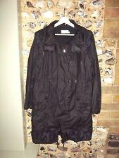 Karen Millen black oiled cotton loose fit 3/4 jacket coat size 12