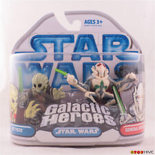 Star Wars Galactic Heroes Jedi Kit Fisto and General Grievous 2 pack 2008 - worn