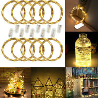 10x Xmas Decor Battery Operated LED Copper Wire String Fairy Lights 2m 20 LEDs Y