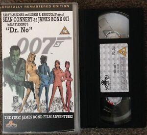 DR NO, JAMES BOND 007-VHS SMALL BOX-DIGITALLY REMASTERED EDITION-MGM/UA.