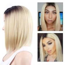 Neu Damen Bob Perücken Kurz Glatt Haar Perücke Volle Damenperücke Natürliche Wig