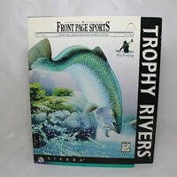 Trophy Rivers by Sierra Vintage PC Game Rare New Sealed 1997 Fly Fishing (READ)2