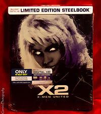 X2 X-MEN UNITED BLU-RAY & DIGITAL HD LIMITED EDITION STEELBOOK RARE NEW