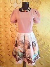 Cotton Blend Crew Neck Short Sleeve Formal Dresses for Women