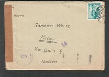 Austria 1950 censor cover & letter 4 Wien 50 to via Gaio Milano Italy