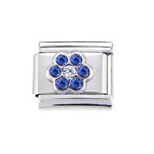 September blue flower Italian Charm - fits 9mm Zoppini Italian charm bracelets