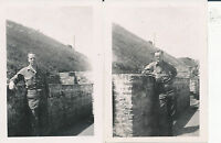 May 1945 WWII Pattons 3rd Army 4th AD GI's 2 Photos GI's Me, Le Havre France