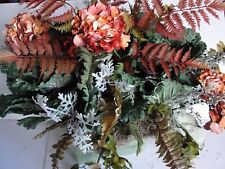 "Rustic Fall Tuscan Silk Flower Arrangement for your 18-24""L Window Box Spans 30"""