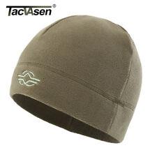 TACVASEN Mens Winter Knitted Fleece Beanies Tactical Military Turban Caps Hats